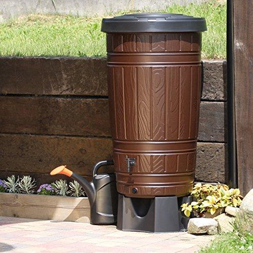 Regenwassertonne 265 Liter mit Wasserhahn und Standfuß thumbnail
