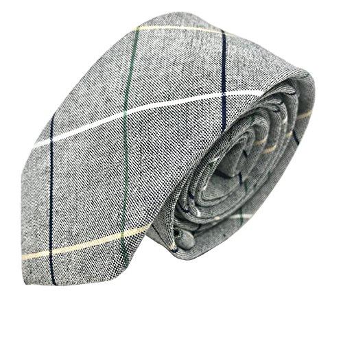 Casual Karo-muster (GOOD.designs schmale Herren Krawatte aus Baumwolle mit Karo-Muster - handgenäht, Slim-Fit-Line Tie)