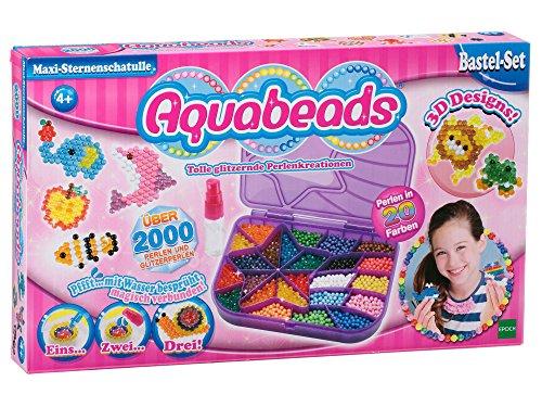 Preisvergleich Produktbild Aquabeads 79448 Maxi Sternenschatulle Bastelset, 38 x 22 x 3 cm