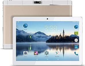 Android Tablet PC 9,6 Zoll PADGENE 16G Speicher 1G RAM 1280x800 Quad Core CPU Google Tablet PC Dual-SIM Slots USB/SD Dual Kamera 2MP und 5MP WiFi/3G Entsperrt Bluetooth 4,0 GPS Telefonfunktion(Gold)