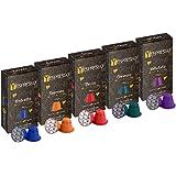 Yespresso Nespresso Compatibili Grand Cru, 5 Miscele Differenti - 100 Capsule