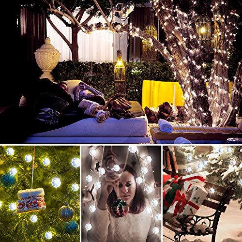 Luci di Natale, Lauva luci decorative a batteria 3m 40LED string luci con telecomando per interni ed esterni, DIY Home New Year party vacanza decorazione di nozze ornamenti Diamond-transparent