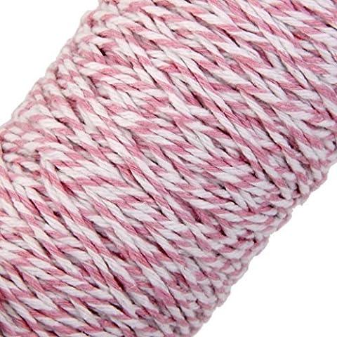 100m Wrap Geschenk Baumwolle Seil Band Twine Rope Kordel pink (Pink Ribbon Wrap)