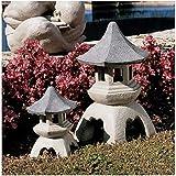 Progettazione Toscano NG999870 pagoda scultura lanterna medie e grandi dimensioni, due pezzi