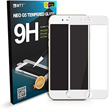 MTT 3D Full Body Tempered Glass Screen Protector Guard for Apple iPhone 6S/6 (White)