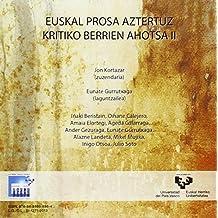 (cd) Euskal Prosa Aztertuz - Kritiko Berrien Ahotsa Ii