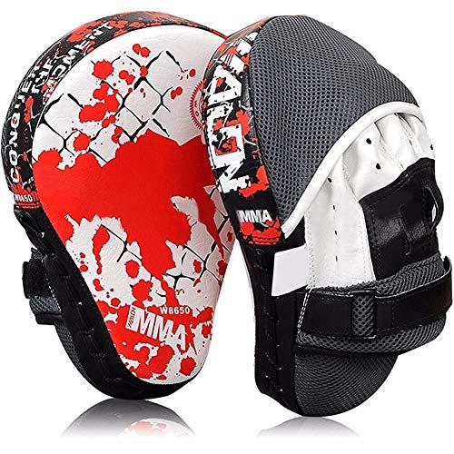 B5645ells MMA Karate Combat Thai Boxing Mitt Training Fokus Ziel Punch Kick Pad Handschuh Black Red