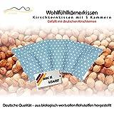 Cojín de huesos de cereza / Almohada relajante para el tratamiento térmico – Almohada para calentar en microondas (Resistente al calor) // 5 divisiones //disponible en 18 colores (celeste)