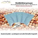 Cuscino con noccioli di ciliegia all'interno/cuscino da rilassamento per il trattamento termico – cuscino termico riscaldabile nel microonde // (celeste)