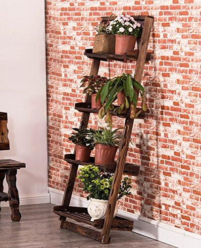 WUFENG Pot de Fleurs en trapèze en Bois/Balcon Ensemble à Fleurs Multi-étages en Bois Multi-étages étagère en Bois Salon intérieur Salon de Fleurs Étagère de Pot de Monture (Taille : 150cm)