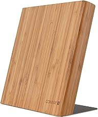 Coninx Quin Magnetischer Messerblock Holz | Messerblock Magnetisch Ohne Messer | Messerhalter Magnet aus Bambus für eine organisierte und aufgeräumte Küche