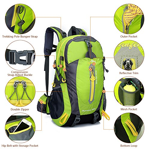 Imagen de lixada 40 resistente al agua viaje  camp caminata portátil  trekking subir bolsas de vuelta para hombres mujeres alternativa
