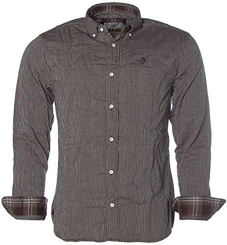 Camicia a righe camicia a maniche lunghe a righe ARQUEONAUTAS button-down Nero