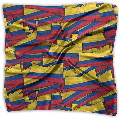 Uridy Lady Ideal Gift Mujer Pañuelo de satén cuadrado Pañuelo en el pelo Bufanda Pañuelo