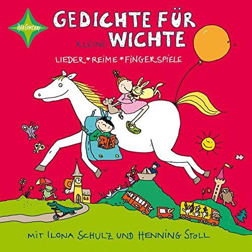 Gedichte für kleine Wichte: Gesprochen und gesungen von Ilona Schulz. 1 CD, ca. 70 Min.. Musik von Henning Stoll, Jubiläumsausgabe