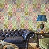JY ART WAYZ Fliesenaufkleber Dekorative Wandgestaltung mit Fliesenaufklebern für Küche und Bad, Deko-Fliesenfolie für Küche u. CZ009, 20cm*5m