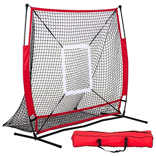 HipHopSport 5x5ft One Pitch Return, Replacement Pitchback Net, Ball Return Training Screen mit einem Ziel