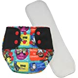 Superbottoms Cloth Supersoft Reusable Cover Diaper with 1 Stay Dry Soaker - Indian Family