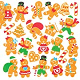 Moosgummi-Aufkleber Lebkuchen – Kreatives weihnachtliches Bastelmaterial zum Basteln und Dekorieren oder für Karten (120 Stück)