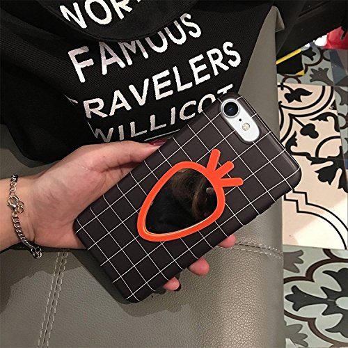 GHC Cases & Covers, Für iPhone 6 & 6s, Rettich-Spiegel-Muster-schützender rückseitige Abdeckungs-Fall ( Color : Black ) Black
