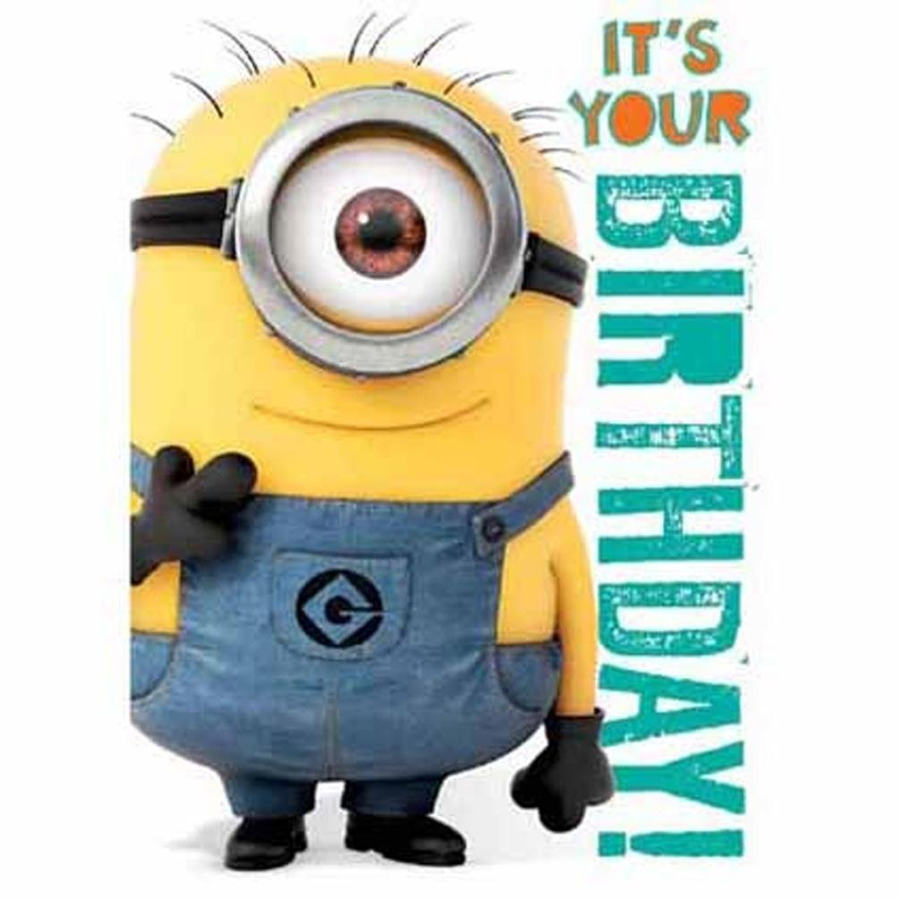 Despicable Me General Birthday Sound Card Amazoncouk Office – Minion Happy Birthday Card