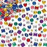 Acryl-Schmucksteine im Vorteilspack - zum Basteln und Aufkleben für Kinder - für Grußkarten und Kostüme - 1000 Stück