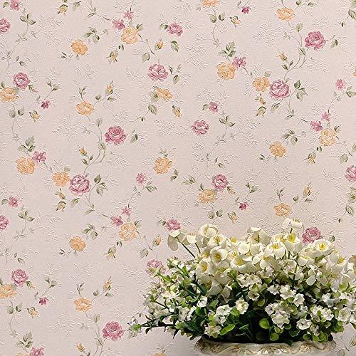 Sisiland carta da parati fiori vintage fiori gialli viola non tessuti del giardino home décor per camera da letto soggiorno tv sfondo
