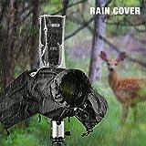"""Tycka Funda Cubierta de cámaras para protegerla de la Lluvia de la Lluvia, se Puede Usar con la Correa de la cámara y Flash, con 10pcs de Papel Absorbente, Impermeable (Lentes de tamaño hasta 10"""")"""