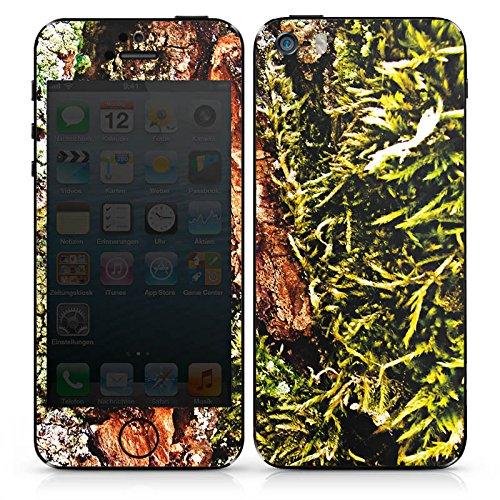 Apple iPhone 5s Case Skin Sticker aus Vinyl-Folie Aufkleber Rinde Holz moos DesignSkins® glänzend