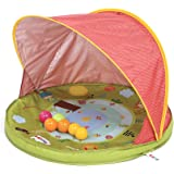 Ludi Tente Anti-UV Abribaby Protège du Vent et du Soleil | 6 balles incluses | Abri et pataugeoire | Capote Anti-UV 50 | Dès