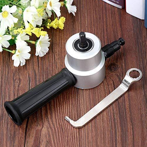 Doolland Blech-Nibbler-Schneider-Metallschneidender Duell-Kopf-Blatt-Nibbler-Schneider-Bohrer-Befestigungs-Werkzeug-Slicer passend für das Auto-Reparieren und die Wartung und das Blech schwarz