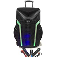 "Trolly Speaker (18"" with in-Built Battery, Long Back up, Very high Output, UHF mics, Bluetooth, USB/Memory Card Slots) with Pulsating Bass"