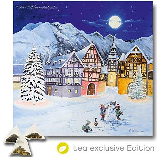 Produktbild bei Amazon - XL Tee Adventskalender (48x49cm!) 24 Pyramiden-Beutel, hochwertige Kräuter-, Früchtetees