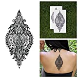 Tattify Large Intricate Mandala Temporary Tattoo - Treasure Trove (Set of 2) - Other Styles Available and Fashionable Temporary Tattoos - Tattoos that are long lasting and Waterproof