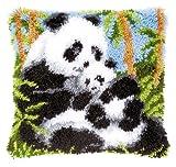 Vervaco Knüpfkissen Pandas Knüpfpackung