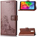 LG Q7 Protector Leather Covers Danallc Protective Skin Double Layer Bumper Shell Shockproof Impact Defender Protective Case Protector for LG Q7, Brown