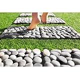 Home Deluxe | Naturstein Terrassenfliese | Grau Mix | 1 m² | 11 Fliesen á 30 x 30 cm | verschiedene Farben