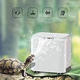 Vansuky AC220~240V Filtro de bajo Nivel de Agua para Tortuga (1.5cm), Bomba de Agua Limpia para Tortuga y Tanque de Reptiles
