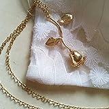 Halskette Roségold die Schöne und das Biest das kleine Märchenprinzenbuch