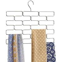 mDesign porte-foulard – range-foulard pour armoire et garde-robe économiseur d'espace – porte-écharpe suspendu avec 18…