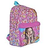 Mochila para niña Disney Soy Luna - Mochila para la escuela primaria con correas regulables y estampado de Disney Soy Luna – Perletti 38x26x16 cm