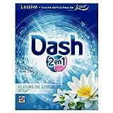 Dash 2en1 Lessive en Poudre Fleur de Lotus/Lys 40 Lavages - Lot de 2