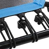 SportPlus Fitness Trampolin mit Griff & Bungee-Seilsystem • Höhenverstellbarer Haltegriff • Inklusive Randabdeckung • Ø 110cm • Indoor Trampolin • Fitnesstrampolin für zuhause • TÜV-geprüft - 3