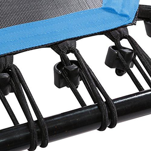 SportPlus Fitness Trampolin, Bungee-Seil-System, Ø 110 cm, bis 130 kg Benutzergewicht, TÜV Süd Sicherheit geprüft, blau - 8