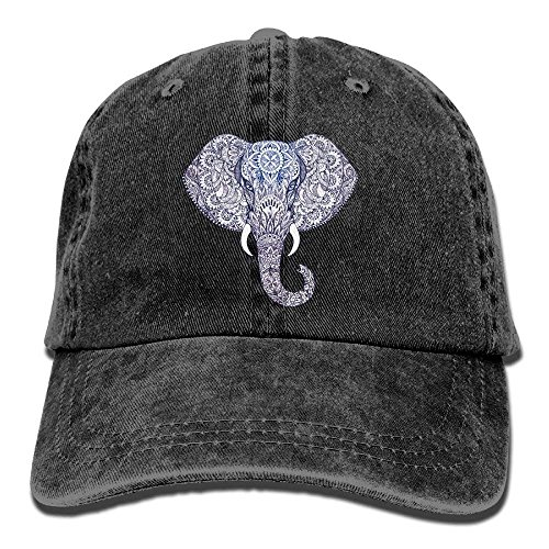 Presock Tattoo Elephant with Patterns Snapback Cotton Cap Design14