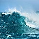 Artland Qualitätsbilder I Glasbilder Deko Glas Bilder 20 x 20 cm Landschaften Gewässer Meer Foto Türkis A6LO Ozeanwelle