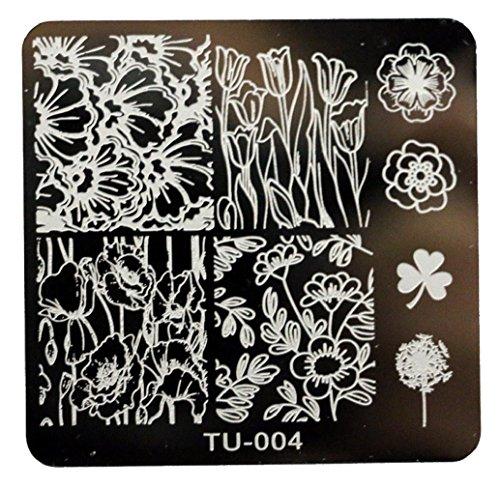 Tongshi 1 PC Mode DIY polnischen Beauty Nail Art Bildstempels Stanzen Platten 3D Nail Art Vorlagen Schablonen Maniküre Tools (4)