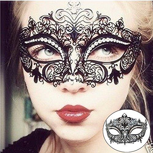 Venezianischen Metall Filigran Masquerade Maske Prom Ball Verona Masken Metall Laserschneiden Kristall (Ball Masken Masquerade)