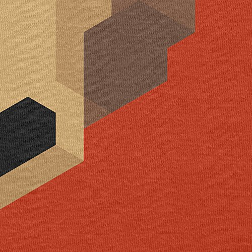 TEXLAB - Simple Bear - Herren T-Shirt Orange
