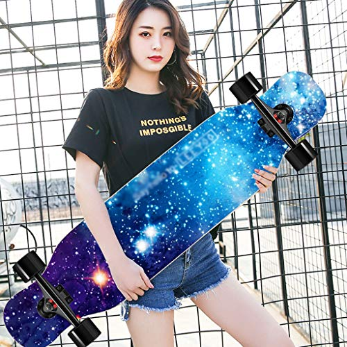 YYHSND Roller Maple Longboard Junge Mädchen Pinsel Street Dance Board Anfänger Erwachsener Jugendlich Vierrad-Skateboard Skateboard (Color : C)